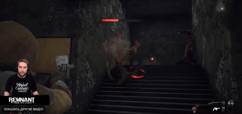 Битва с боссом в новом геймплейном ролике Remnant: From the Ashes