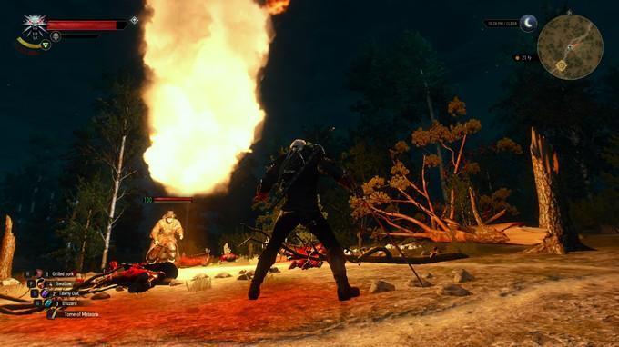 Как вызвать голема и кастовать торнадо в The Witcher 3
