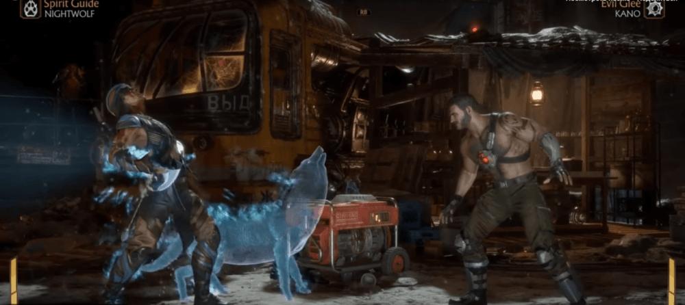 Геймплей за Ночного Волка в Mortal Kombat 11