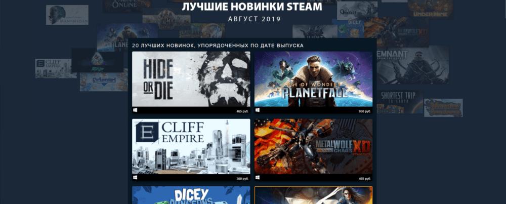 Лучшие игры августа по версии Steam