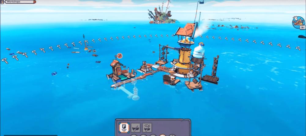 Геймплей Flotsam - стратегии на воде