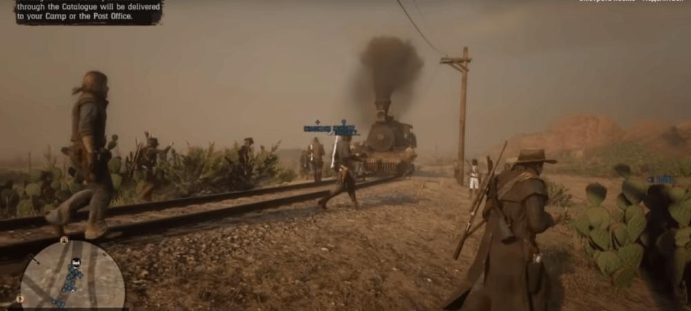 Челлендж игроков Red Dead Online сорвал поезд