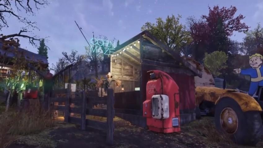 В Fallout 76 построили лабиринт в кукурузном поле