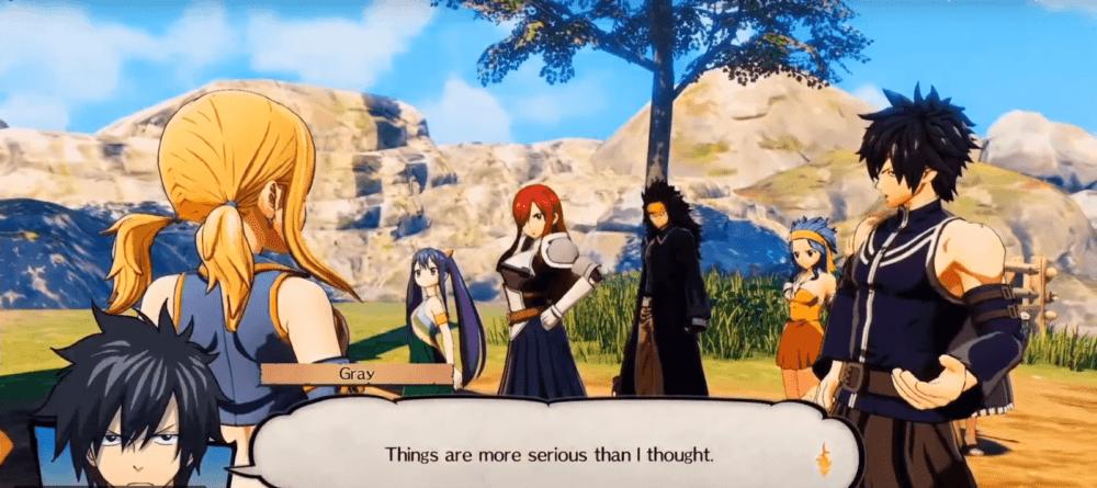 Геймплей RPG Fairy Tail