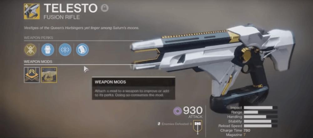 Почему нельзя использовать Telesto в Destiny 2