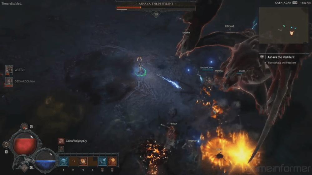 Свежий геймплей битвы с боссом Diablo 4