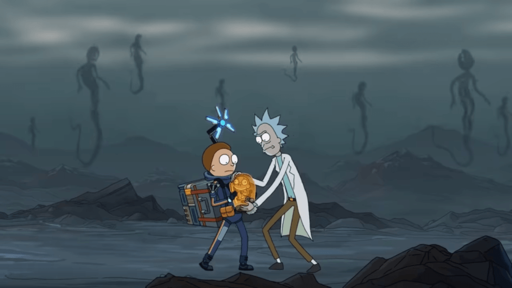 Рик и Морти попали в Death Stranding