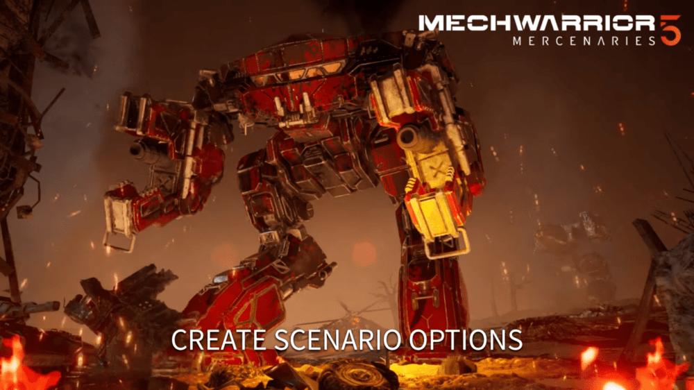 Новый трейлер MechWarrior 5: Mercenaries - случайная генерация миссий