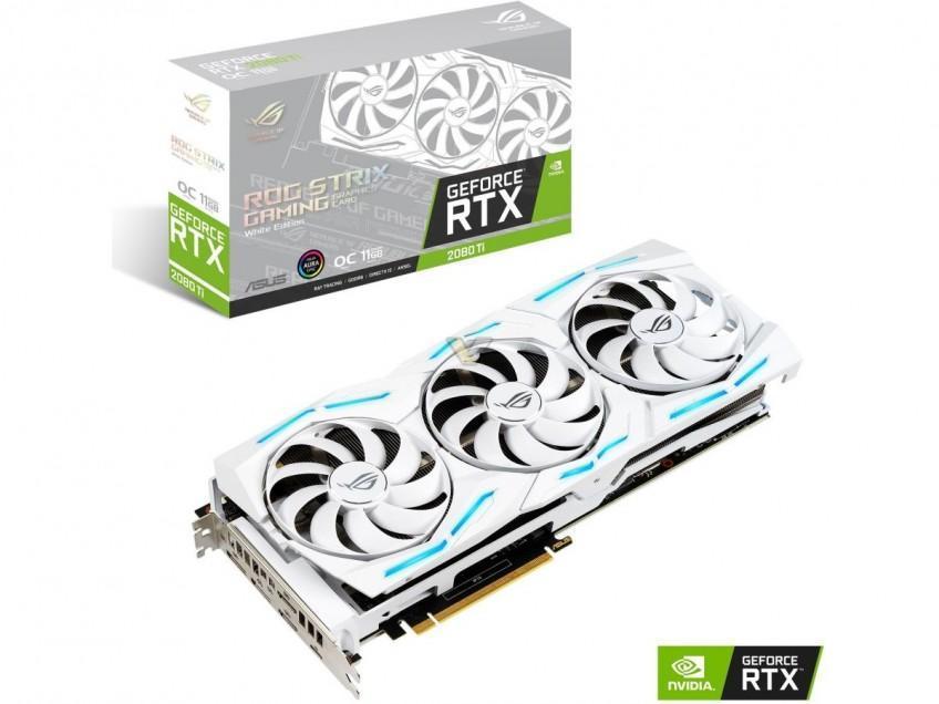 Компания ASUS презентовала новую видеокарту ROG Strix RTX 2080 Ti White Edition