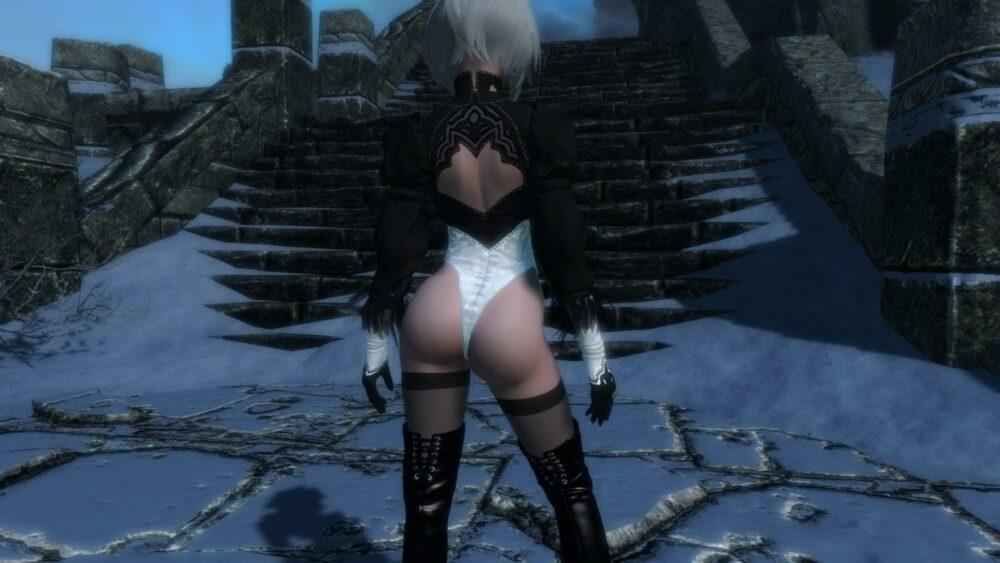 Попы персонажей Final Fantasy XIV в одежде 2B испортили