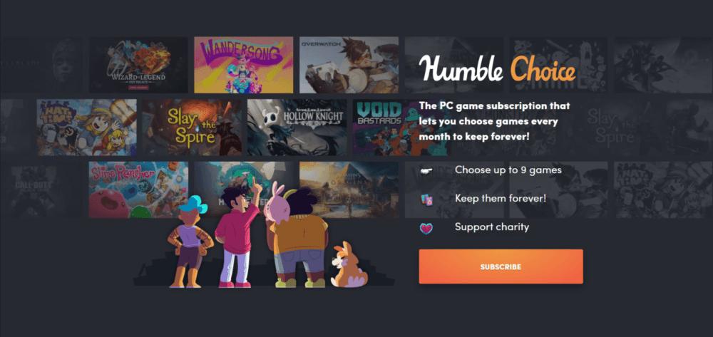 Первый набор игр подписки Humble