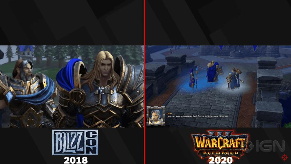 Сравнение графики с трейлера Warcraft 3: Reforged  и релизной версии