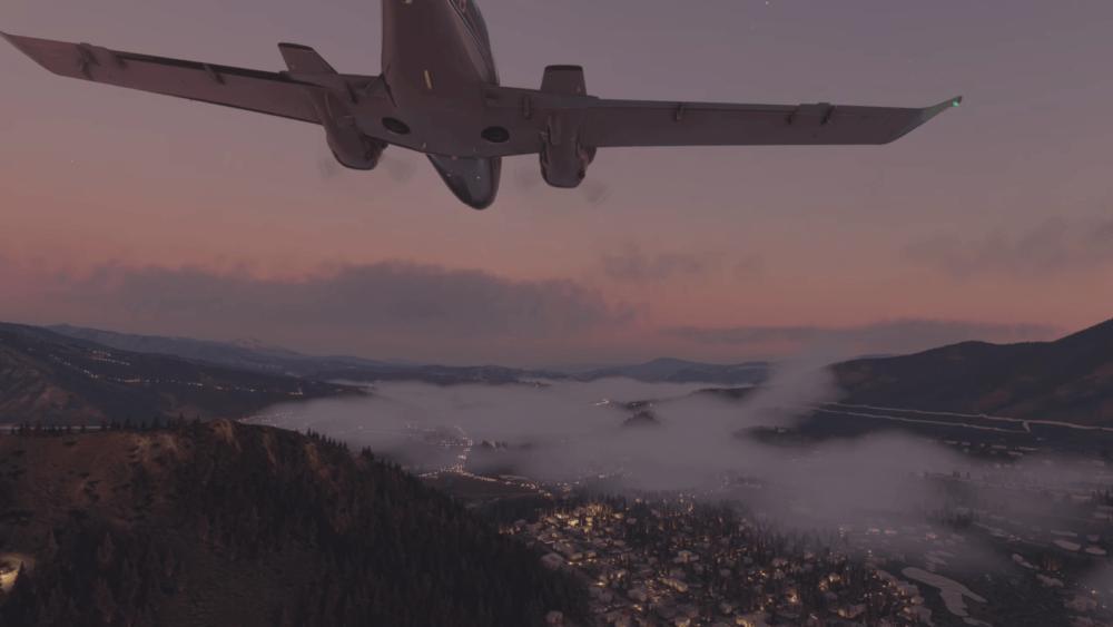 Куча геймплея Microsoft Flight Simulator