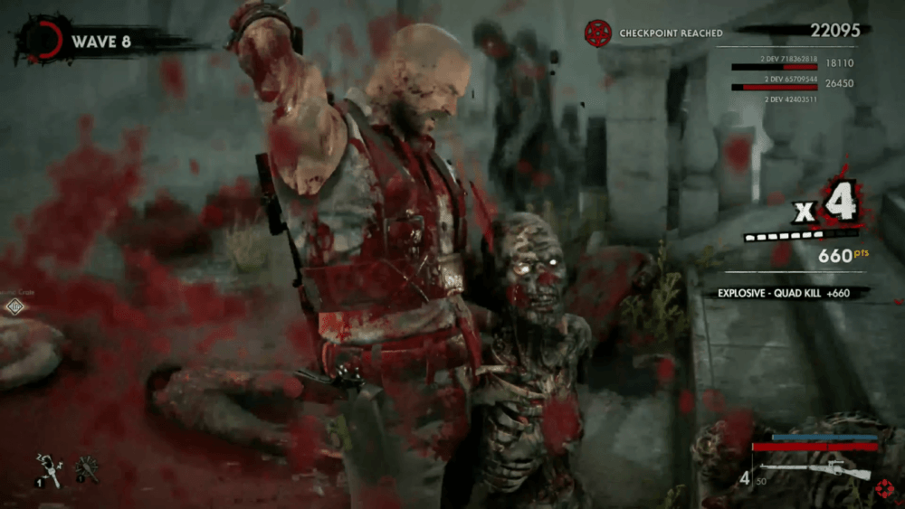 Геймплей Zombie Army 4: Dead War