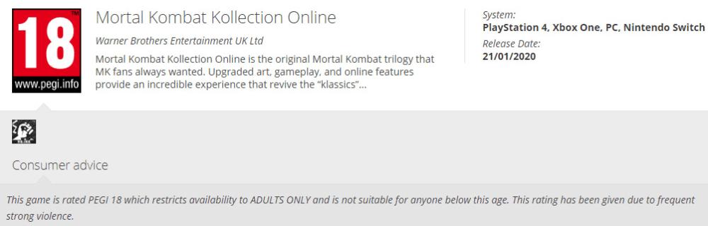 Отмененная Mortal Kombat Kollection Online может выйти на PC и консоли