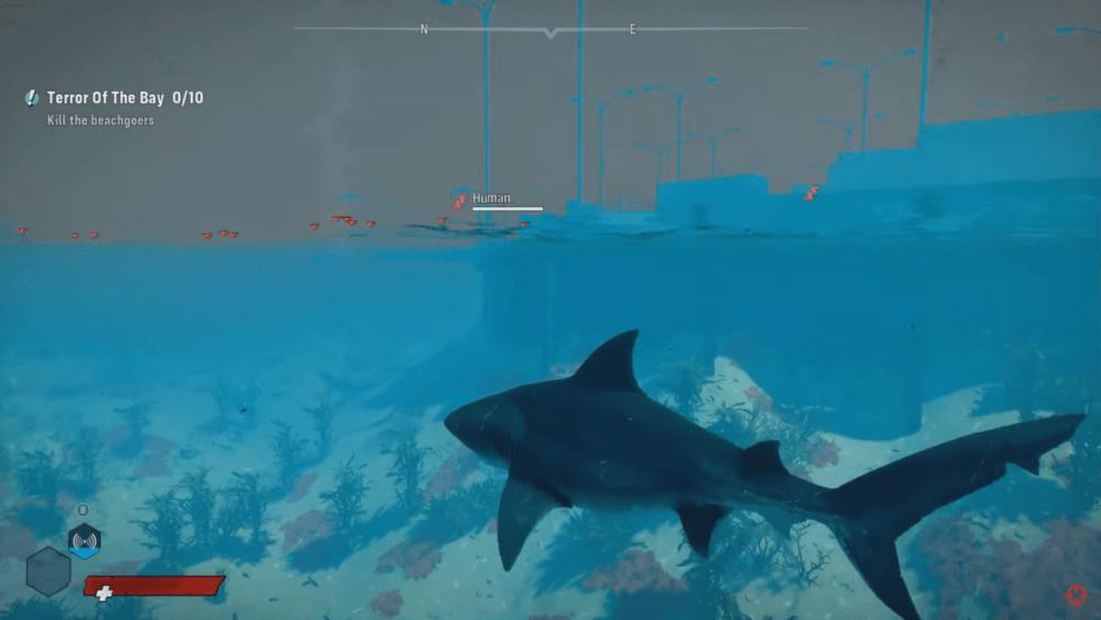 Геймплей симулятора акулы Maneater