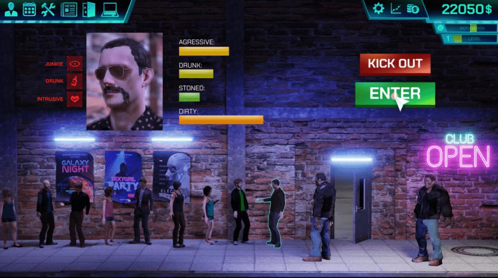 Анонсировал симулятор владельца клуба - Disco Simulator