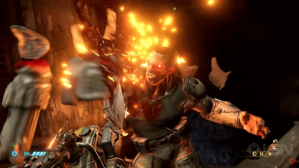 Стартовые минуты Doom Eternal в 4K при 60 fps