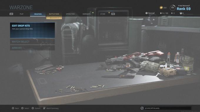 Слив арта и меню королевской битвы Call of Duty: Modern Warfare
