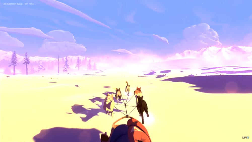 Геймплей сурвайвала The Red Lantern в заснеженных местах