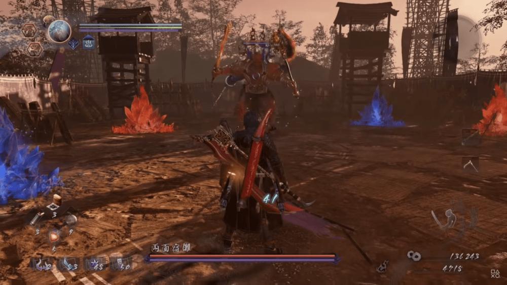 Геймплей и битва с боссом Nioh 2