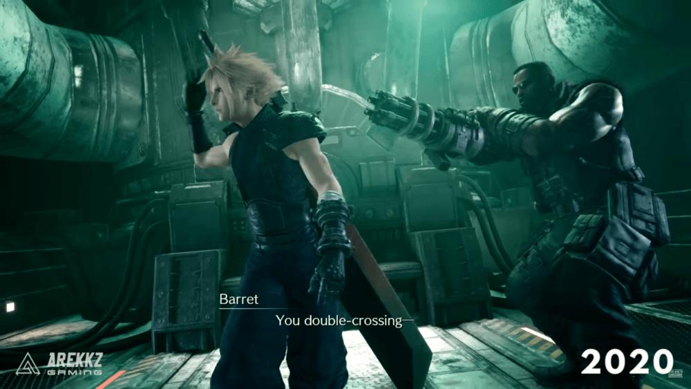 Сравнение геймплея ремейка Final Fantasy VII в 15 и 20 году