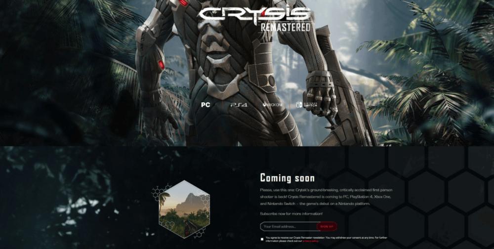 Утечка: трейлер ремастера Crysis и платформы