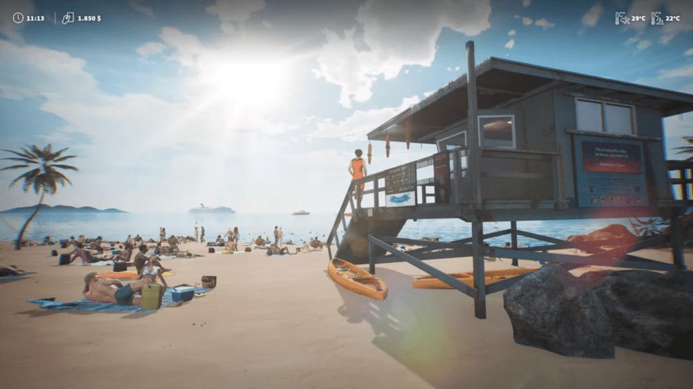 Трейлер Lifeguard Simulator — пляжного спасателя