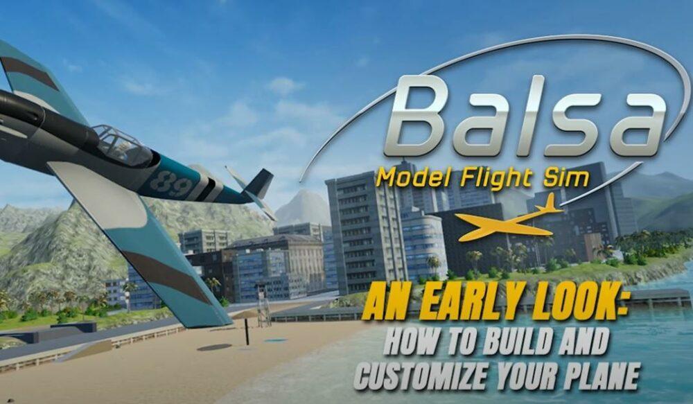 Balsa Model Flight Simulator показывает строительство самолета