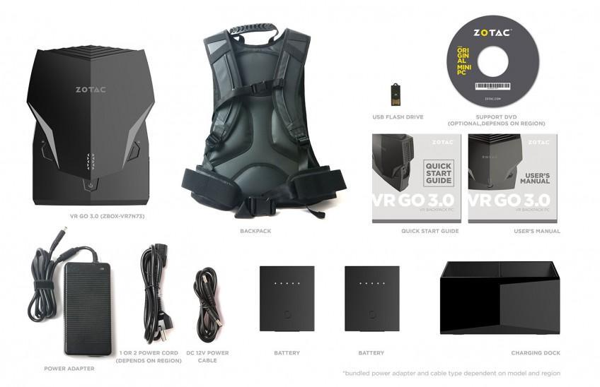 Zotac показали 3 серию компьютера-рюкзак VR GO 3.0