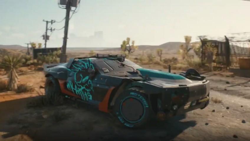 Разработчики Cyberpunk 2077 представили кадры машины банды «Призраки»