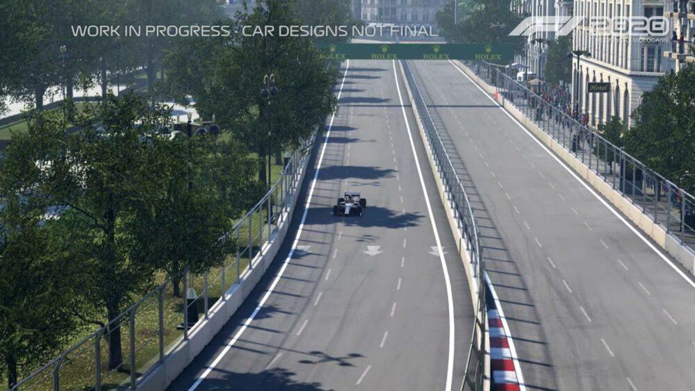 Новый геймплей трейлер F1 2020 - трасса Баку
