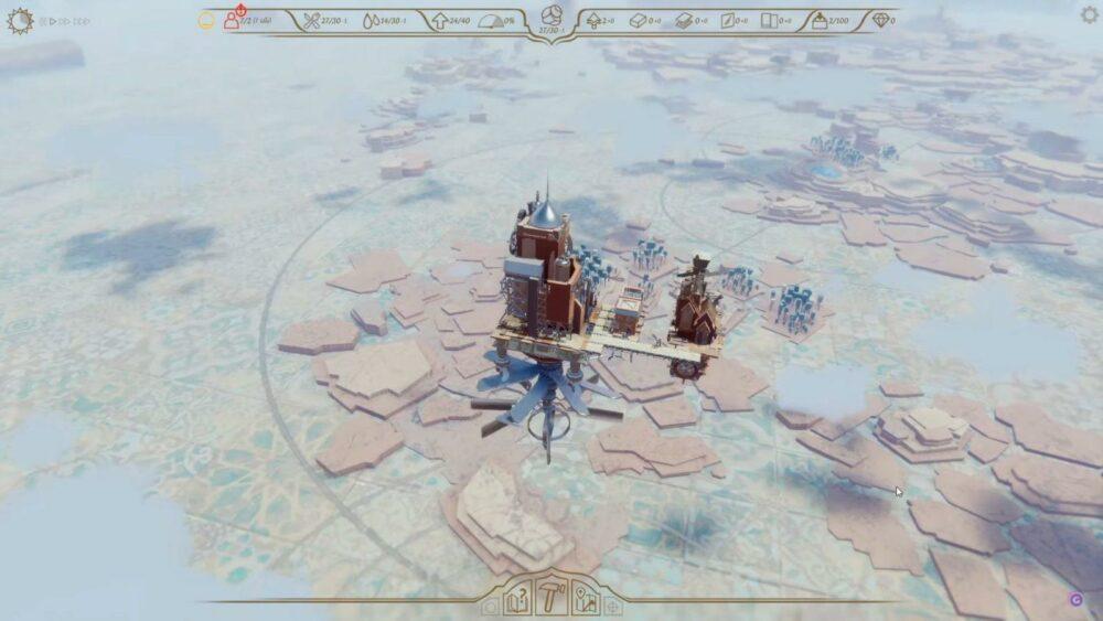 Летающие города в геймплее Airborne Kingdom
