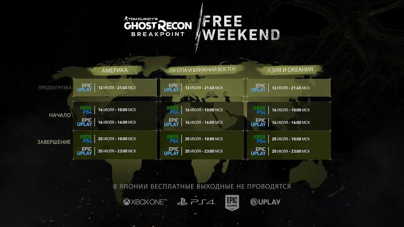 Ghost Recon Breakpoint бесплатно на выходные