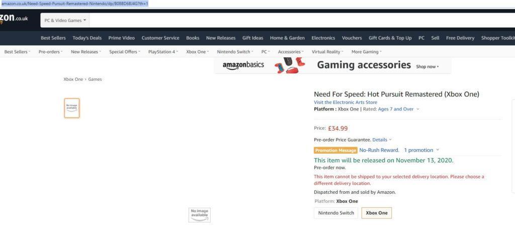 Найдена страница ремастера Need for Speed: Hot Pursuit