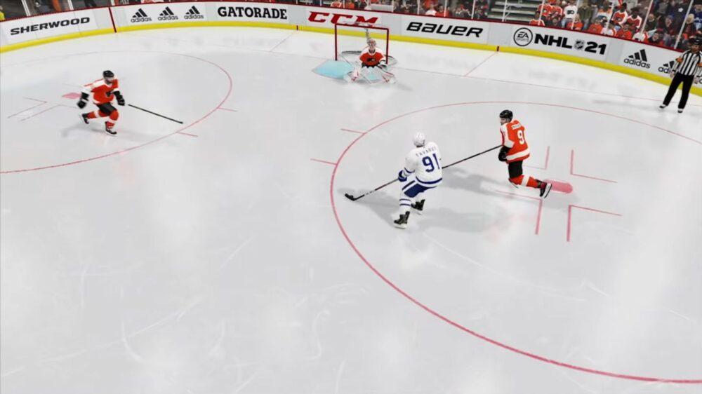 Свежий геймплей NHL 21