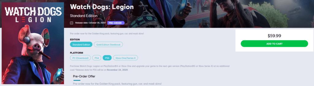 Утечка - дата выходаWatch Dogs Legion на PS5