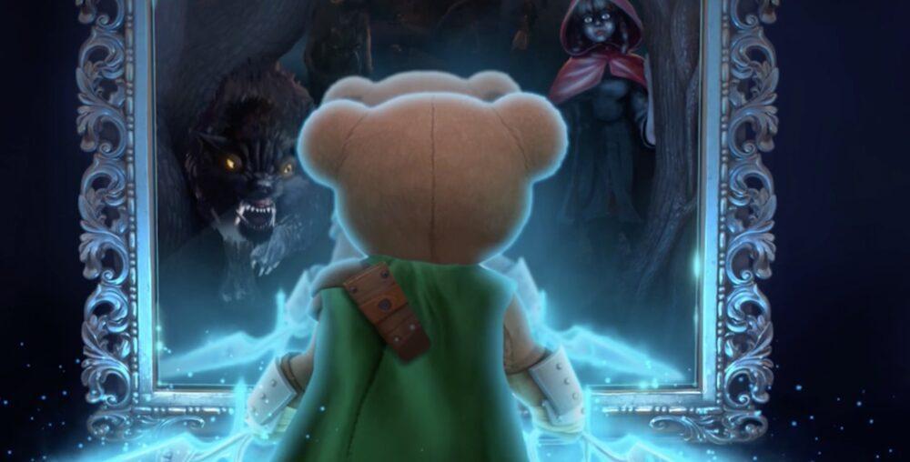 Плюшевы медвежонок в трейлере The Darkest Tales