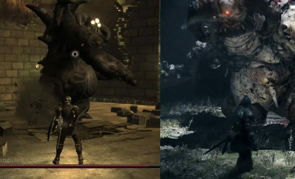 Сравнение оригинала и ремейка Demon's Souls