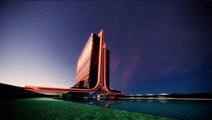 Концепт-арты отелей для геймеров