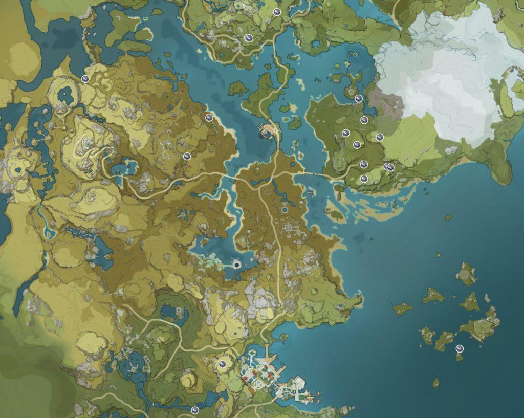 Гайд: Genshin Impact полуночный нефрит - где найти