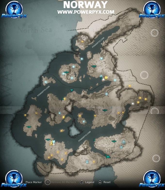 Карта Assassin's Creed Valhalla уже в сети