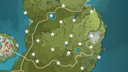 где находятся осколки метеорита Genshin Impact